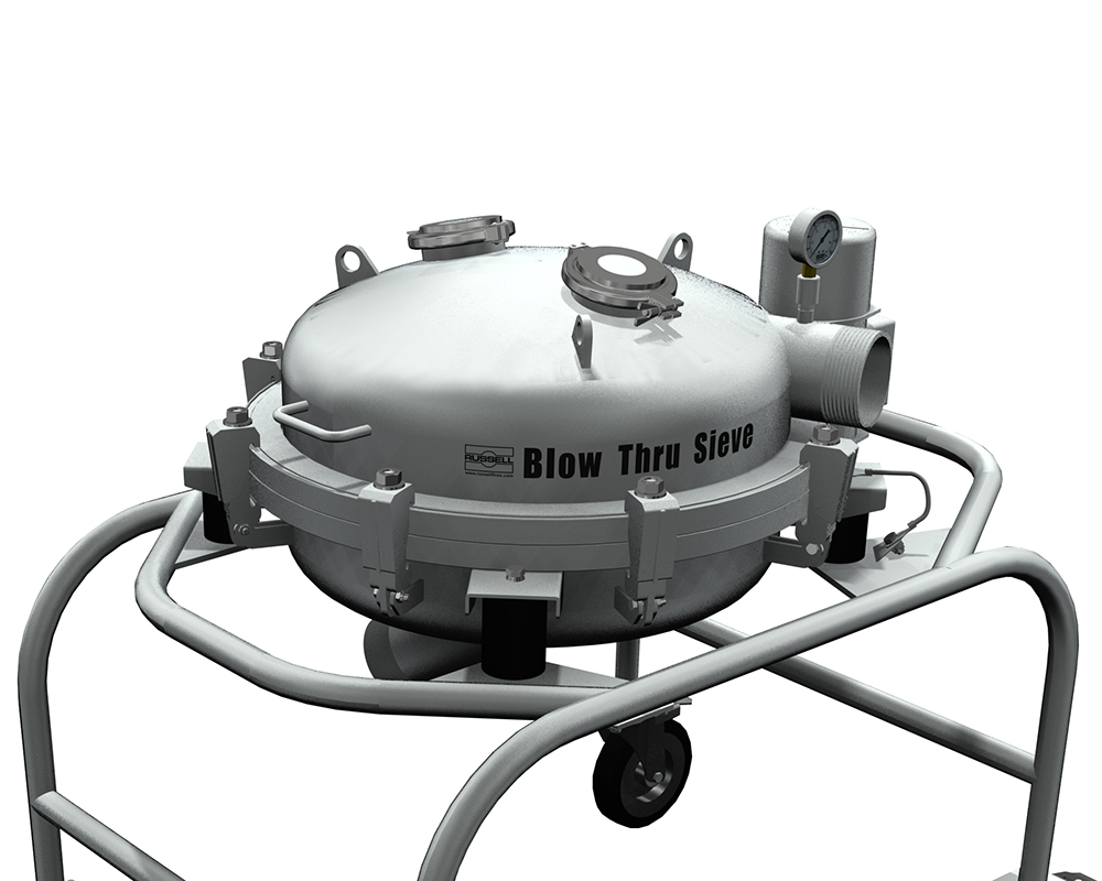 Check screening using positive pressure for vibrating sieves